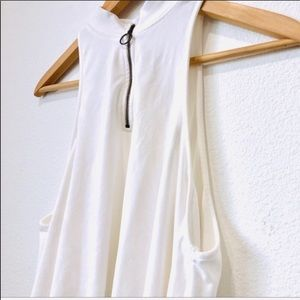 Free People Tops - Free people white sleeveless flowy top XS